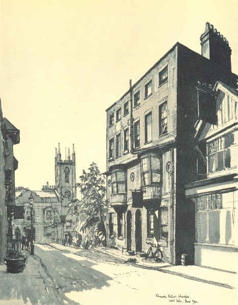 Associate Product WINDSOR. Church Street, West Side. Berkshire. By W Fairclough 1946 old print