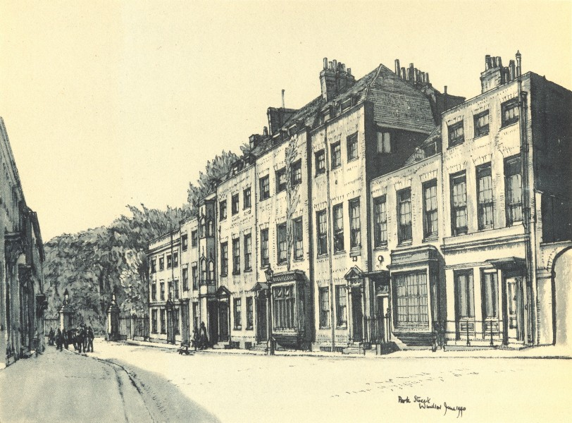 Associate Product WINDSOR. Park Street. Berkshire. By W Fairclough 1946 old vintage print