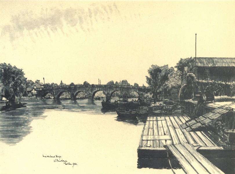 Associate Product BERKSHIRE. Maidenhead Bridge. By W Fairclough 1946 old vintage print picture