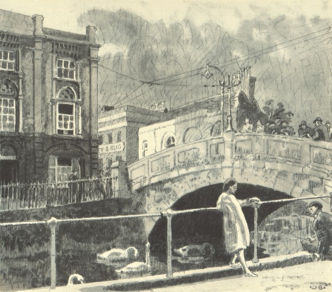 Associate Product READING. The High Bridge. Berkshire. By Walter Bayes 1946 old vintage print