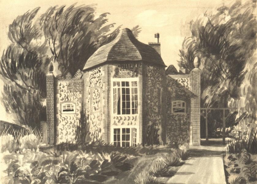 CHIEVELEY. Hop Castle. Berkshire. By Barbara Jones 1946 old vintage print