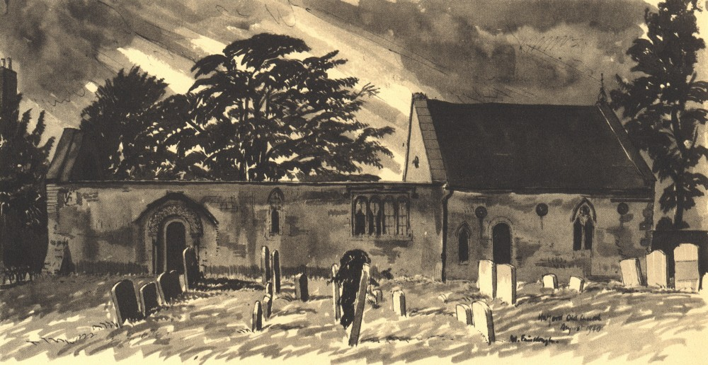 Associate Product HATFORD. St. George's. Berkshire. By W Fairclough 1946 old vintage print