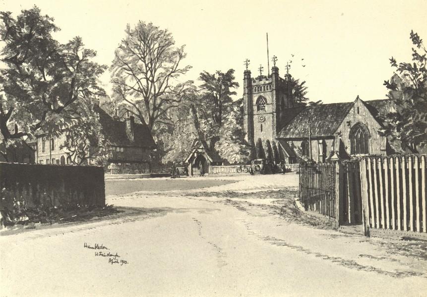 Associate Product HAMBLEDEN. St. Mary-the-Virgin. Buckinghamshire. By W Fairclough 1946 print