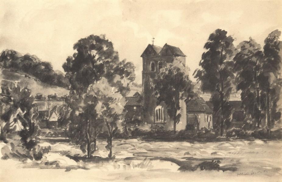 Associate Product FINGEST. St. Bartholomew's. Buckinghamshire. By Elliott Seabrooke 1946 print