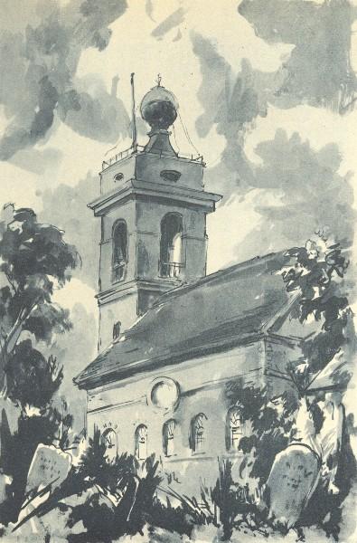 Associate Product WEST WYCOMBE. St. Lawrence's. Buckinghamshire. By Elliott Seabrooke 1946 print