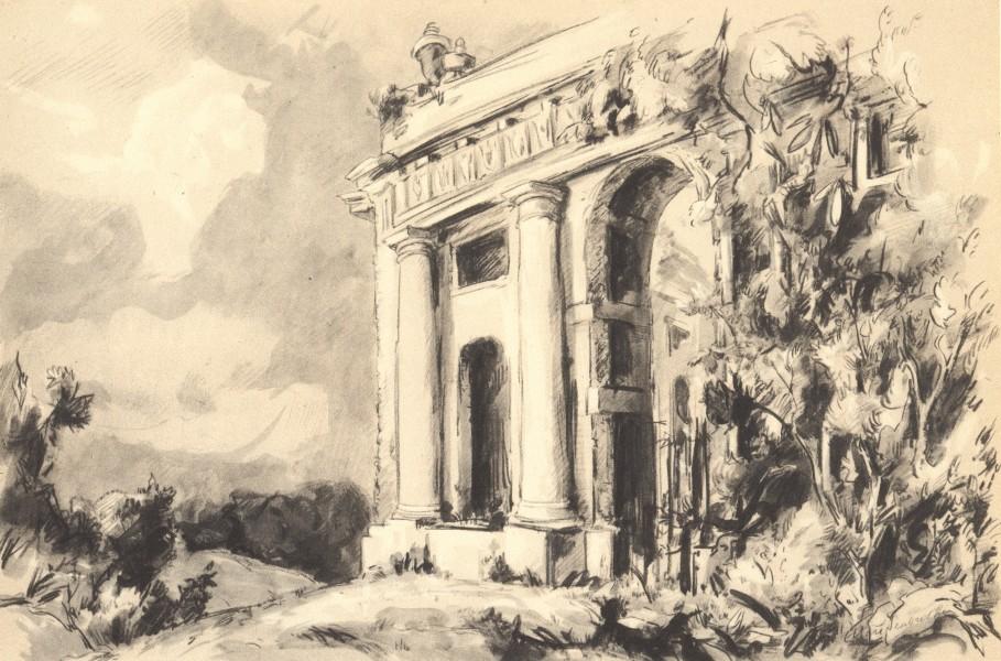 Associate Product WEST WYCOMBE. Dashwood Mausoleum. Buckinghamshire. By Elliott Seabrooke 1946