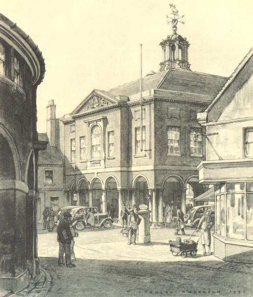 Associate Product HIGH WYCOMBE. Guildhall. Buckinghamshire. By Stanley Anderson 1946 old print
