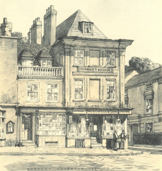 Associate Product WINSLOW. Market House. Buckinghamshire. By Stanley Anderson 1946 old print