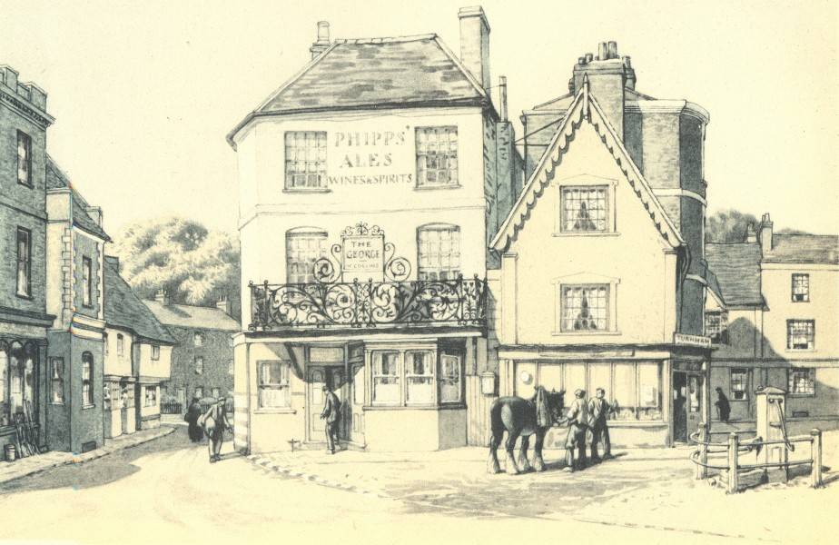 Associate Product WINSLOW. The George. Buckinghamshire. By Stanley Anderson 1946 old print