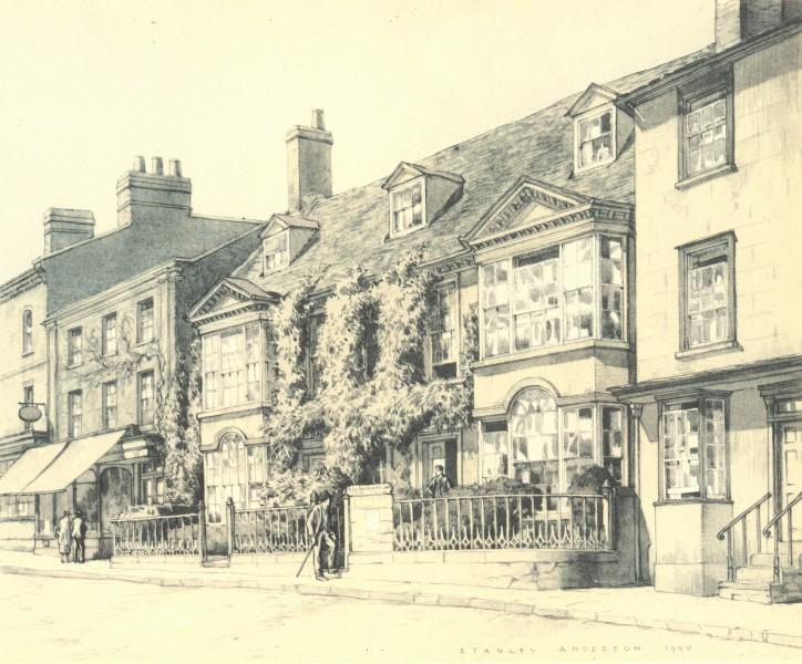 Associate Product BUCKINGHAM. Market Hill. Buckinghamshire. By Stanley Anderson 1946 old print