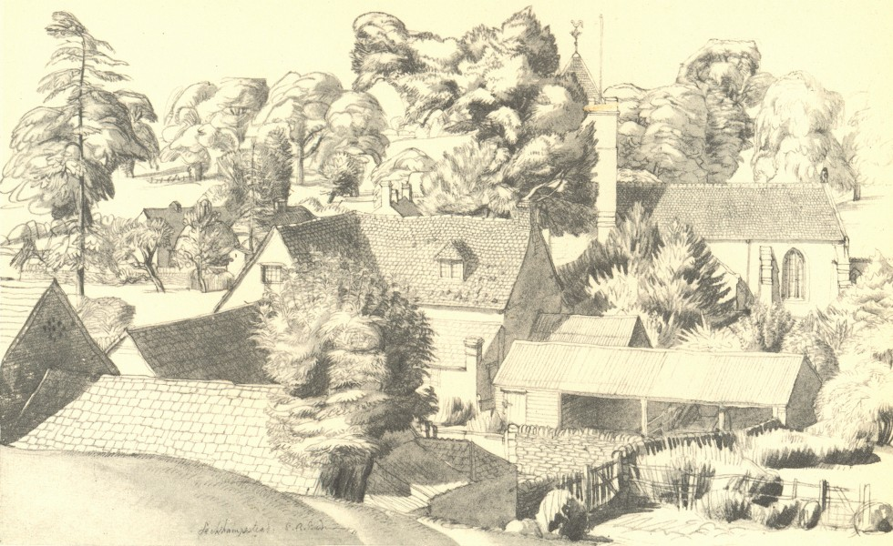 Associate Product BUCKINGHAMSHIRE. Leckhampstead. By SR Badmin 1946 old vintage print picture