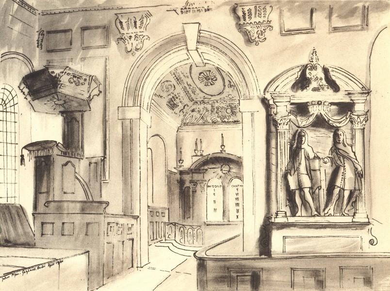 Associate Product GAYHURST. St. Peter's. Buckinghamshire. By John Piper 1946 old vintage print