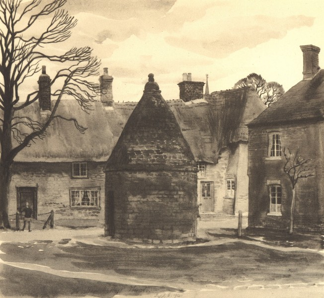 Associate Product HARROLD. The Round House. Bedfordshire. By SR Badmin 1946 vintage print