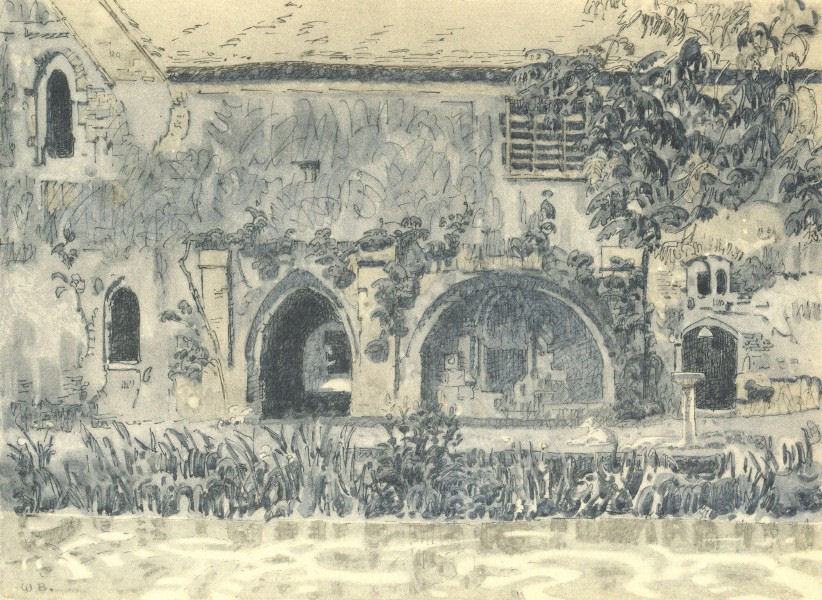 Associate Product LITTLE COGGESHALL. The Abbey. Essex. By Walter Bayes 1947 old vintage print