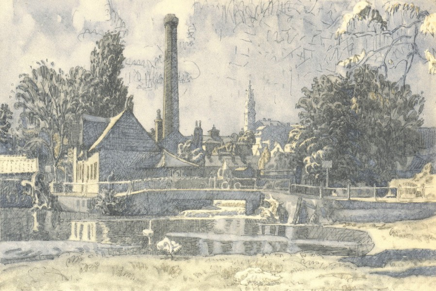 Associate Product COLCHESTER. Middle Mill. Essex. By Walter Bayes 1947 old vintage print picture