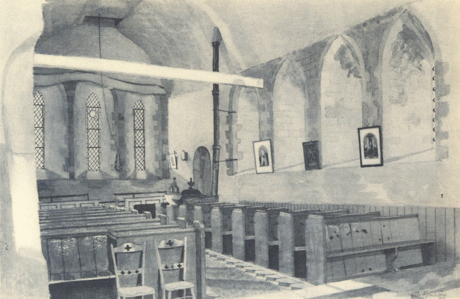 Associate Product TILTY. St. Mary's - Interior. Essex. By Kenneth Rowntree 1947 old print