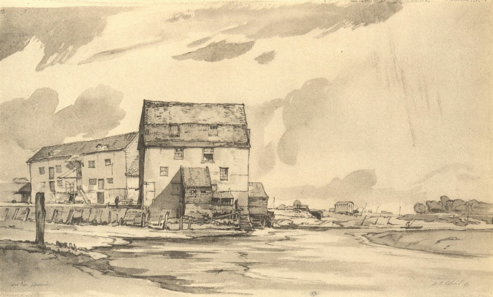 Associate Product WOODBRIDGE. Tidal Mill. Suffolk. By WP Robins 1947 old vintage print picture