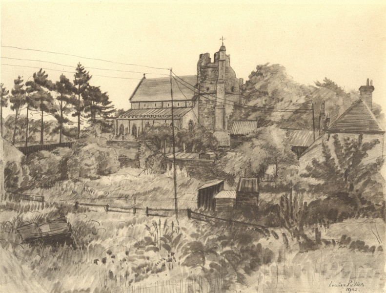 Associate Product ORFORD. St. Bartholomew's, from the North-West. Suffolk. By Louisa Puller 1947