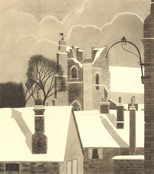 Associate Product ORFORD. St. Bartholomew's, from the South-West. Suffolk. By Jack L Airy 1947