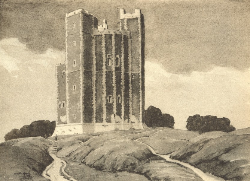 Associate Product SUFFOLK. Orford Castle. By Martin Hardie 1947 old vintage print picture