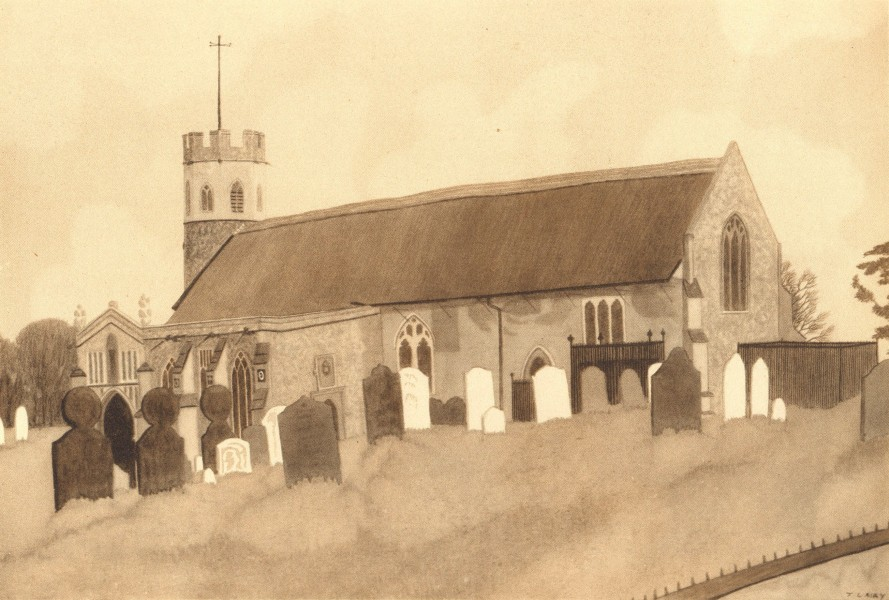 Associate Product THEBERTON. St. Peter's. Suffolk. By Jack L Airy 1947 old vintage print picture