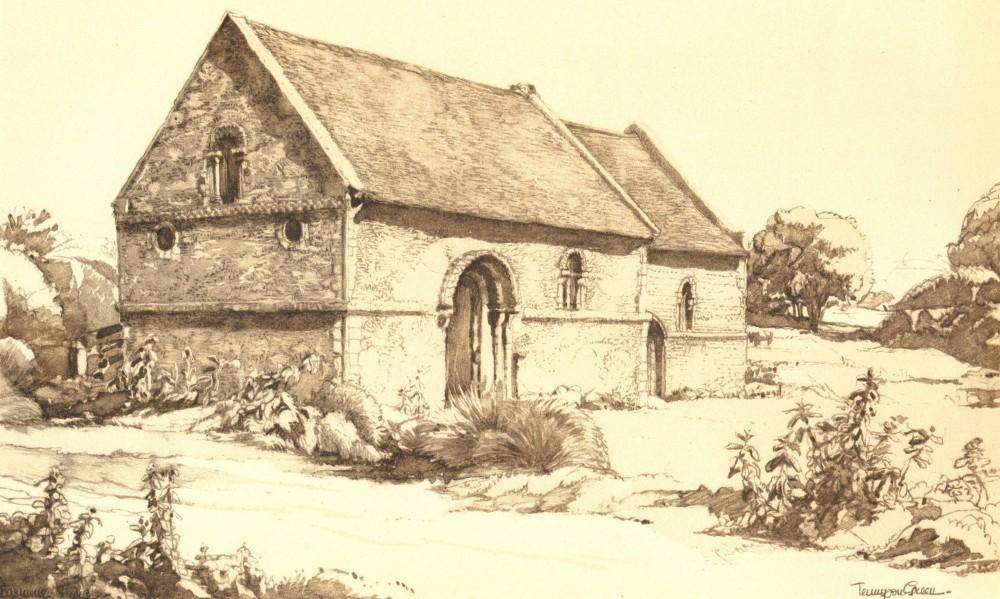 Associate Product STURBRIDGE. Chapel of St. Mary Magdalene. Cambridgeshire. P Tennyson Green 1947