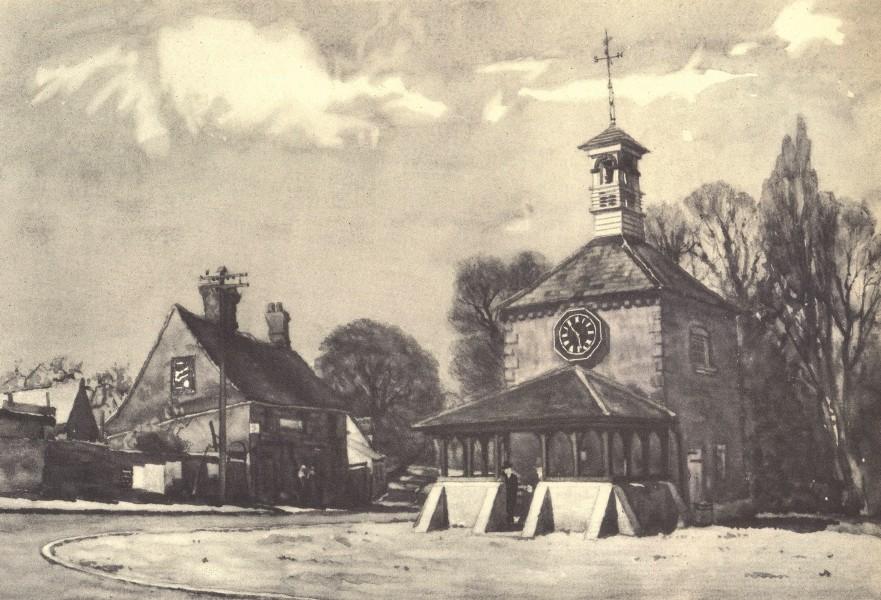 Associate Product FEN STANTON. Clock Tower. Cambridgeshire. By Edward Walker 1947 old print