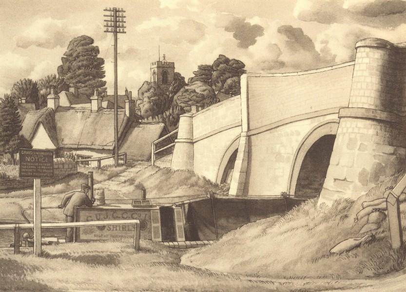 Associate Product NORTHAMPTONSHIRE. Stoke Bruerne. By SR Badmin 1947 old vintage print picture