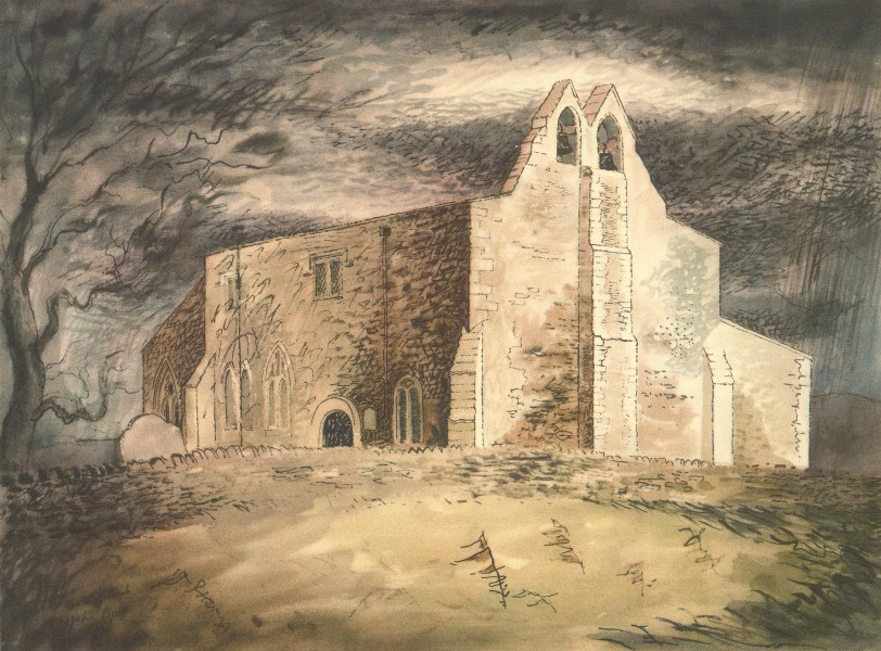Associate Product FAXTON. St. Denis's - Exterior. Northamptonshire. By John Piper 1947 old print
