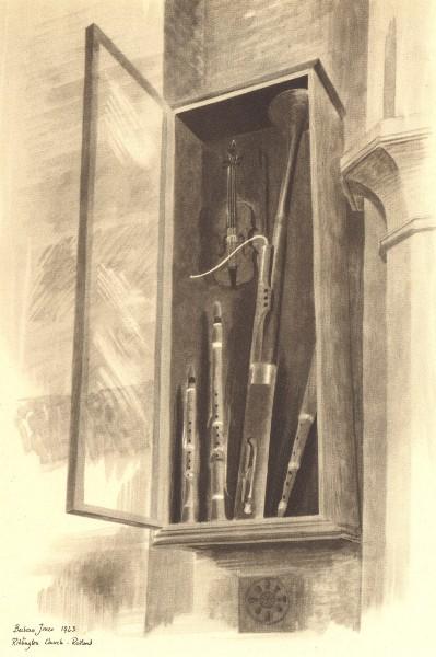Associate Product RIDLINGTON. Church Instruments. Northamptonshire. By Barbara Jones 1947 print