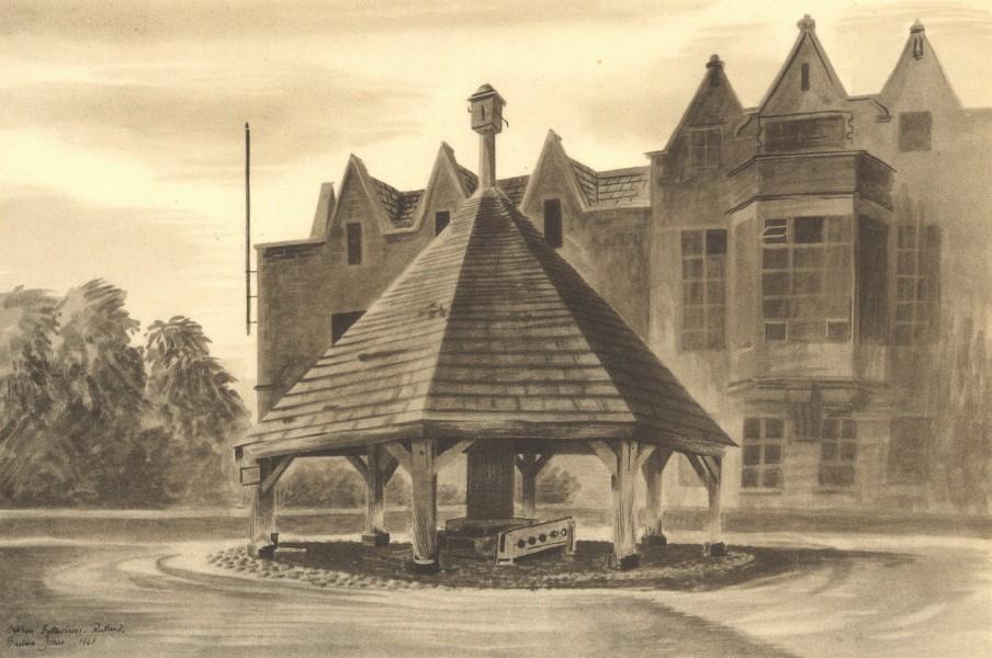 Associate Product OAKHAM. Butter Cross. Rutland. By Barbara Jones 1947 old vintage print picture