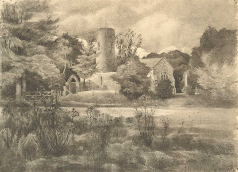 Associate Product GREAT HAUTBOIS. St. Mary the Virgin's. Norfolk. By RL Young 1947 old print