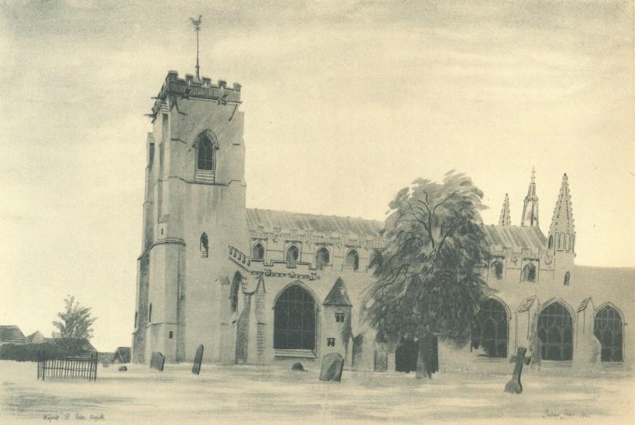 Associate Product NORFOLK. Walpole St. Peter. By Barbara Jones 1947 old vintage print picture