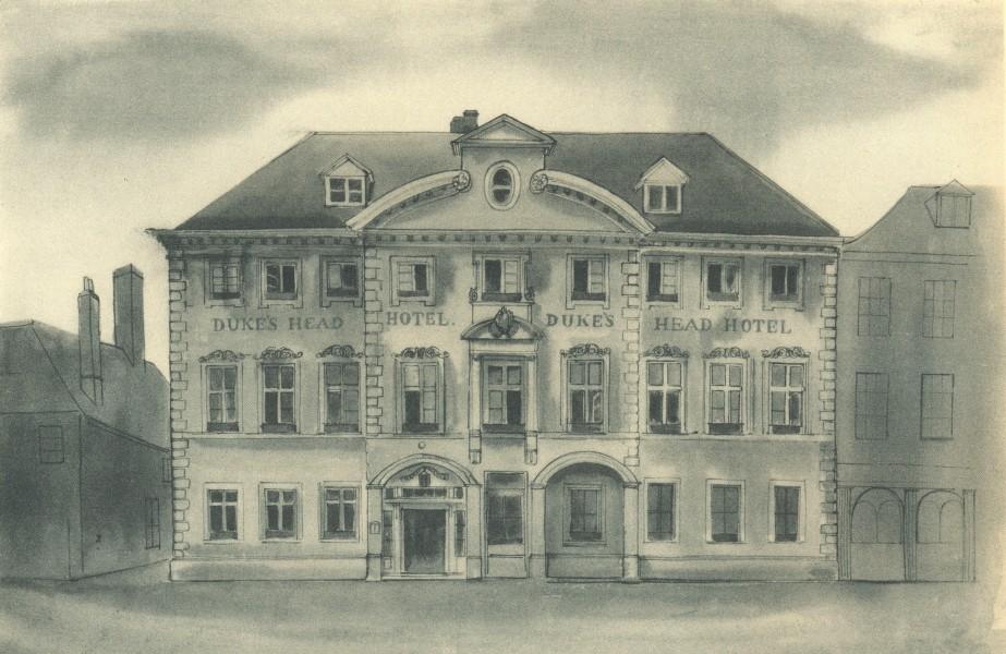 Associate Product KING'S LYNN. The Duke's Head Hotel. Norfolk. By Mona Moore 1947 old print