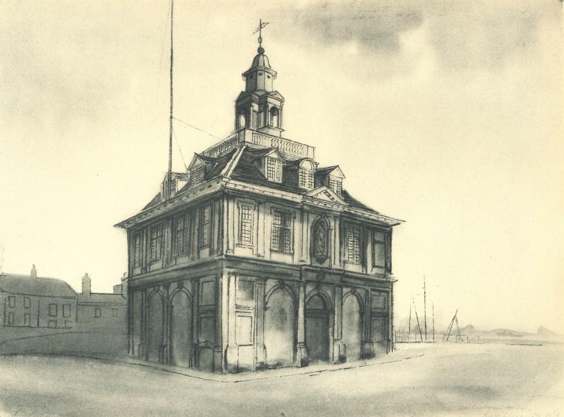 Associate Product KING'S LYNN. The Custom House. Norfolk. By Mona Moore 1947 old vintage print
