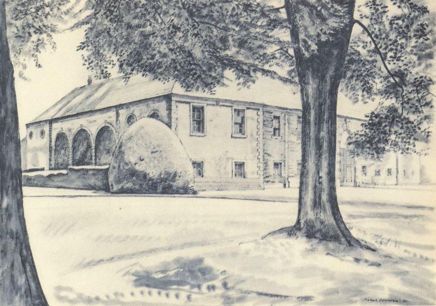 YORKSHIRE. Newburgh Priory. By Michael Rothenstein 1947 old vintage print
