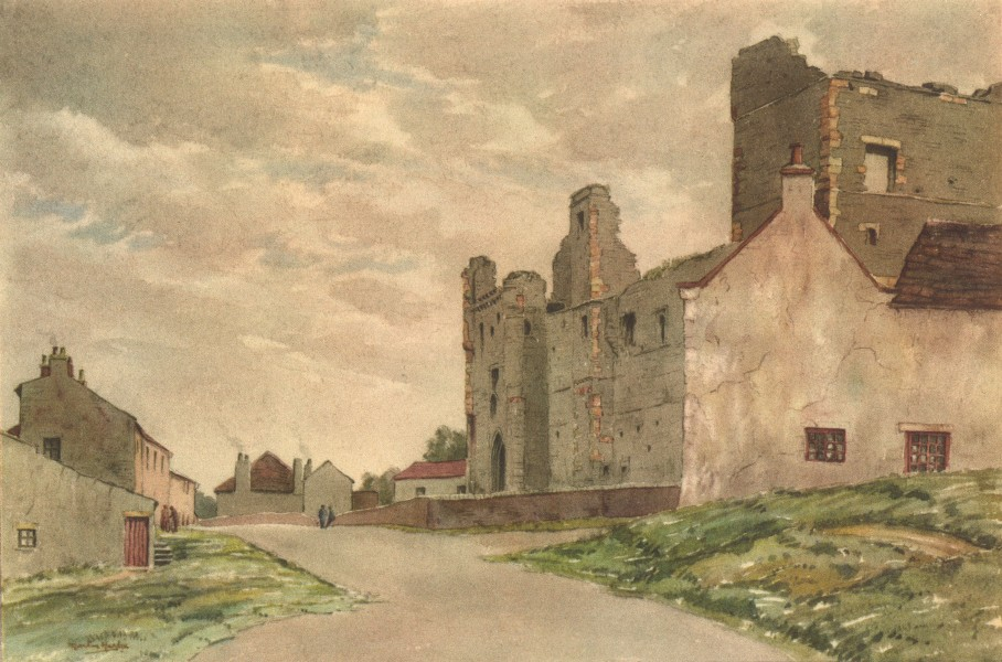 Associate Product YORKSHIRE. Middleham Castle. By Martin Hardie 1947 old vintage print picture