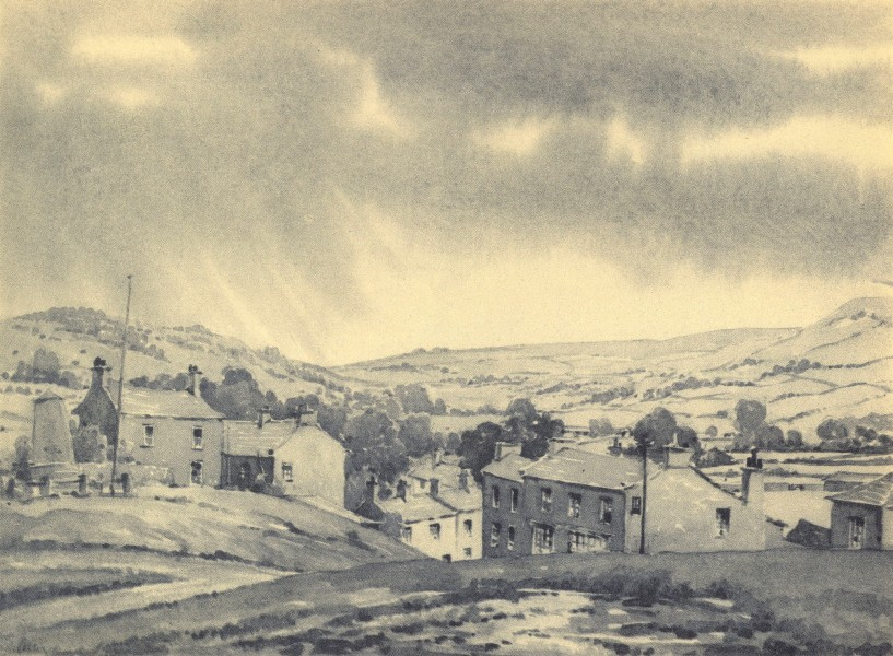 Associate Product YORKSHIRE. Reeth. By EB Musman 1947 old vintage print picture