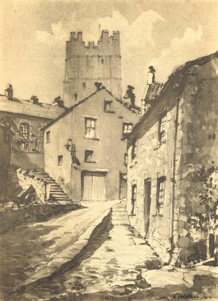 Associate Product RICHMOND. Castle Terrace. Yorkshire. By EB Musman 1947 old vintage print