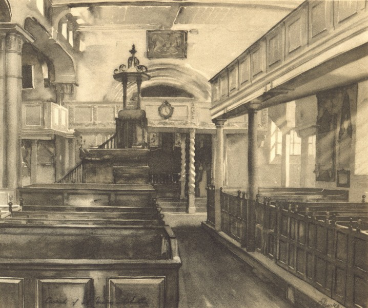 Associate Product WHITBY. St. Mary's - Interior. Yorkshire. By Horace Rooke 1947 old print