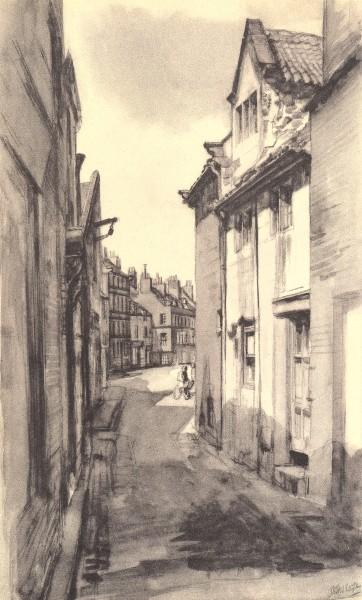 Associate Product WHITBY. Haggersgate. Yorkshire. By John Cooper 1947 old vintage print picture
