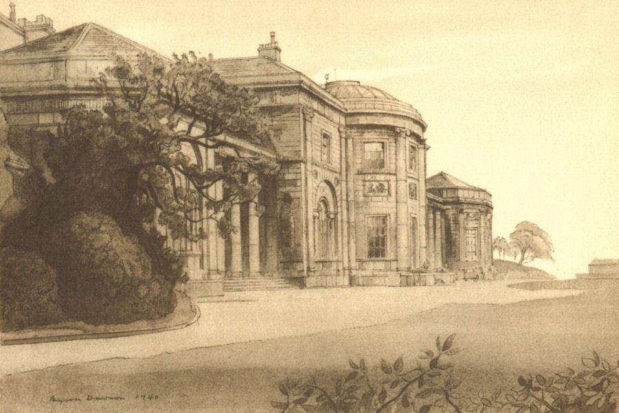 Associate Product MANCHESTER. Heaton Hall. Lancashire. By Byron Dawson 1948 old vintage print
