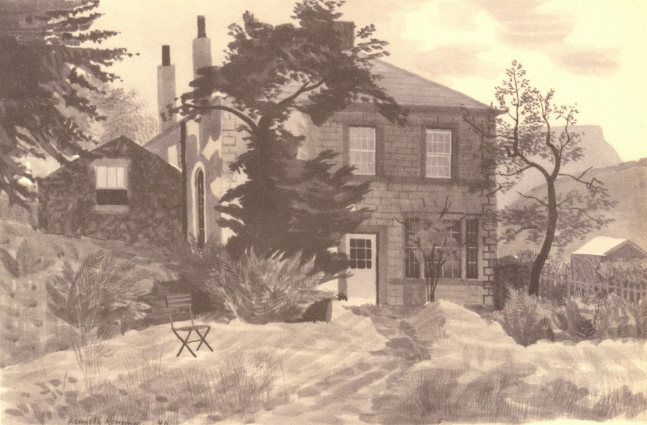 Associate Product DERBYSHIRE. The Ashopton Inn. By Kenneth Rowntree 1948 old vintage print