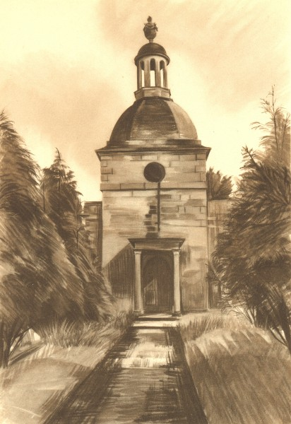 Associate Product MAPPLETON. St. Mary's. Derbyshire. By Malvina Cheek 1948 old vintage print