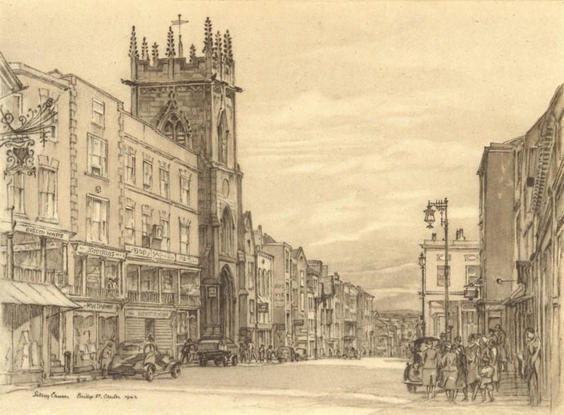 Associate Product CHESTER. Bridge Street. Cheshire. By Sidney Causer 1948 old vintage print