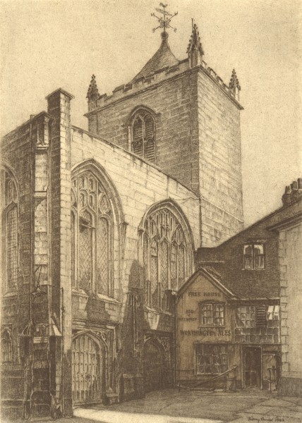Associate Product CHESTER. St. Peter's. Cheshire. By Sidney Causer 1948 old vintage print