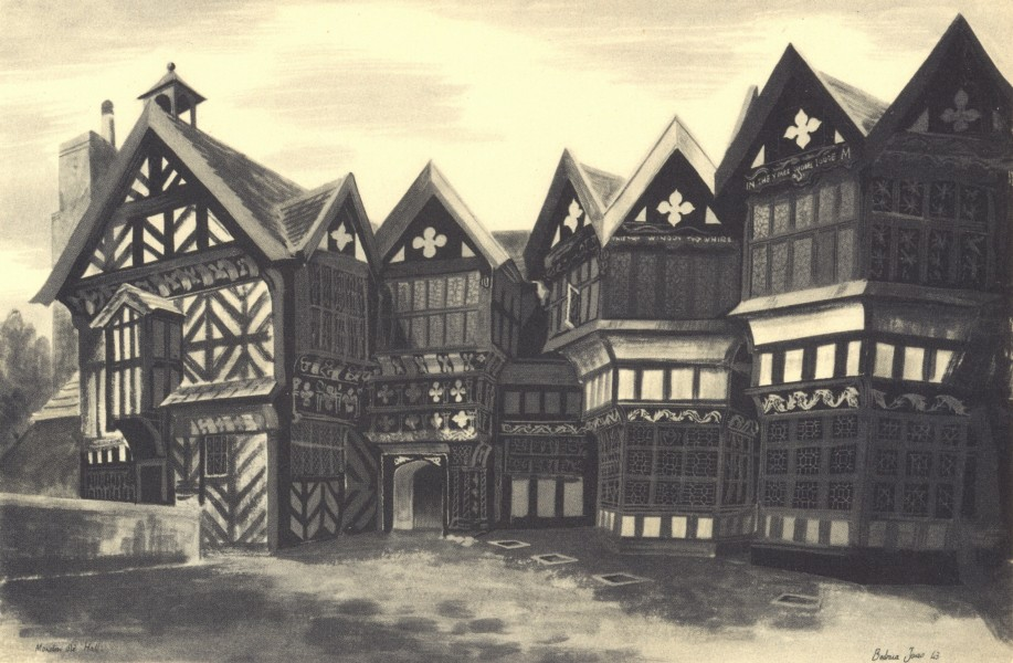 Associate Product CHESHIRE. Little Moreton Hall. By Barbara Jones 1948 old vintage print picture