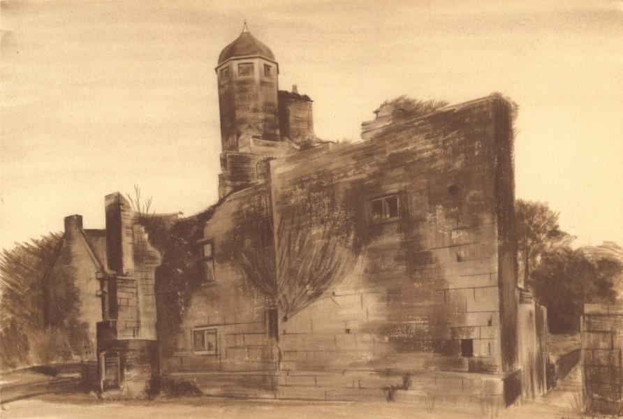 BIDDULPH. The Old Hall. Staffordshire. By Malvina Cheek 1948 vintage print