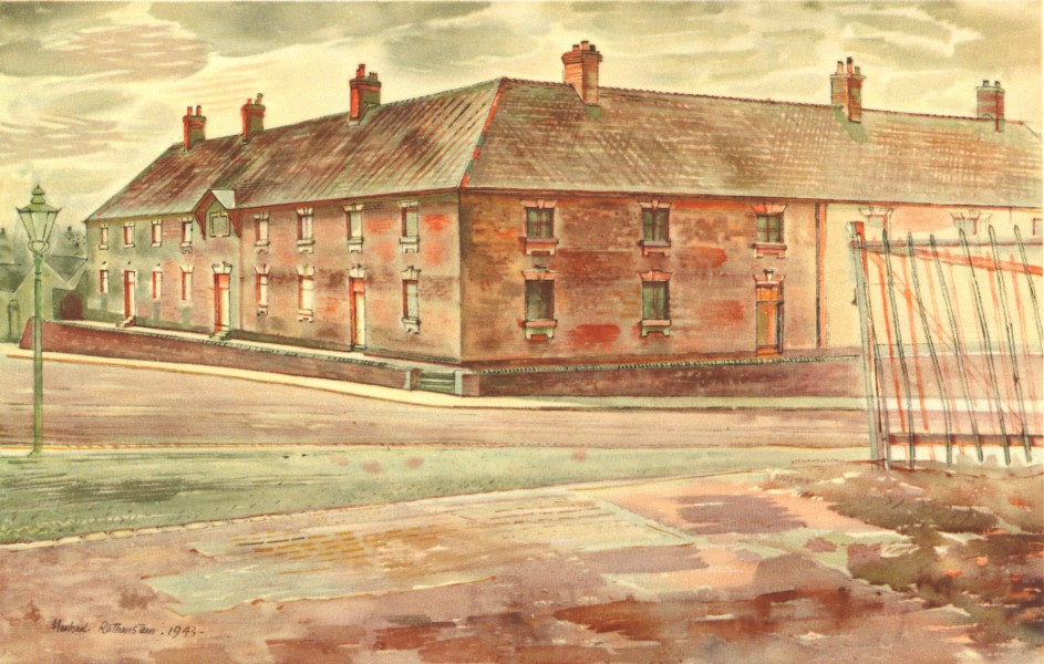 Associate Product NEWCASTLE-UNDER-LYME. Almshouses. Staffordshire. By Michael Rothenstein 1948