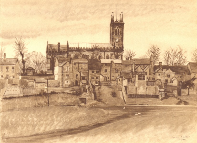 Associate Product STONE. St. Michael's. Staffordshire. By Louisa Puller 1948 old vintage print